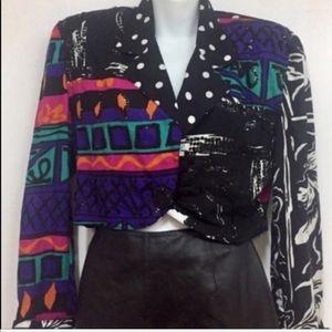 '80s Vintage Geometric Top